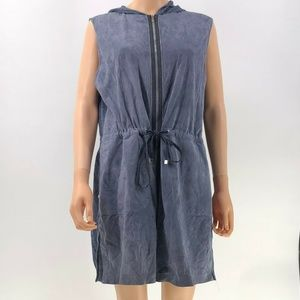 Lafayette 148 New York Blue Leather Suede vest L
